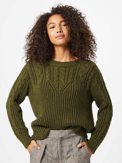 ABOUT YOU Pullover  'Perle' in khaki, Modelansicht
