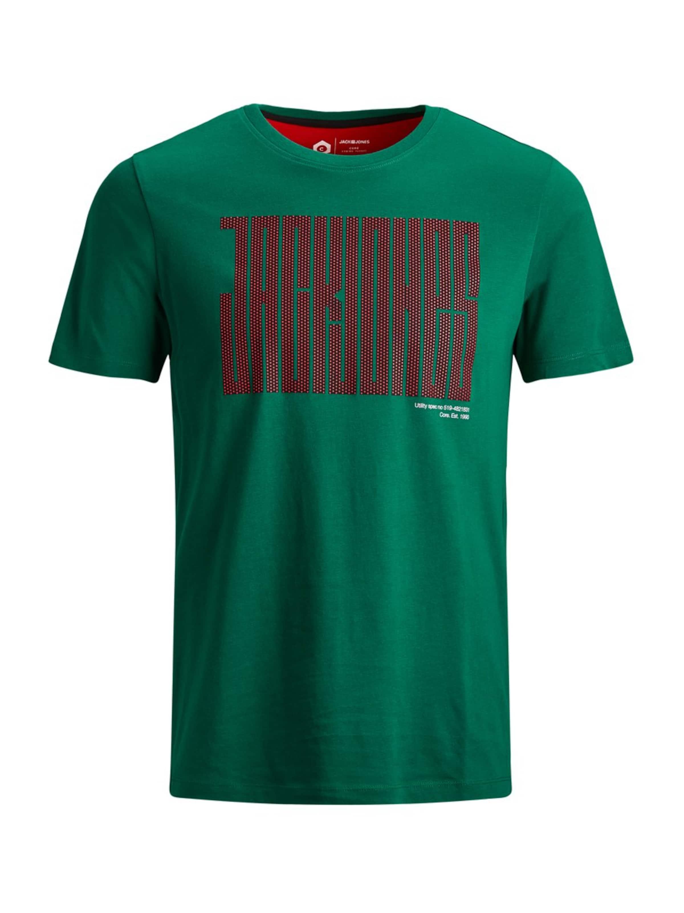 Vert T amp; Chiné Noir En shirt Jack Rouge Jones xRfCqwwT