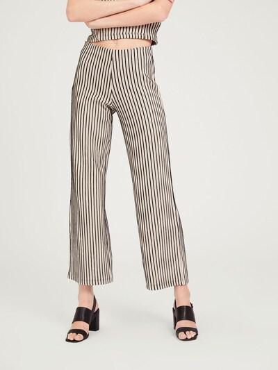 EDITED Kalhoty 'Niah' - béžová / černá, Model/ka