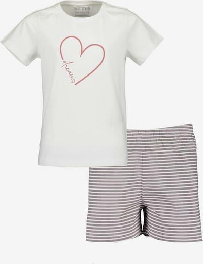 BLUE SEVEN Schlafanzug in grau / rosa / weiß, Produktansicht