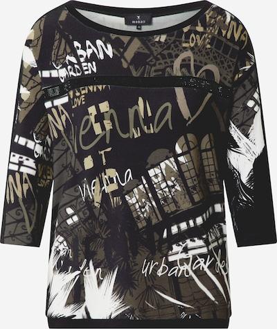 monari Shirt in oliv / schwarz / weiß, Produktansicht