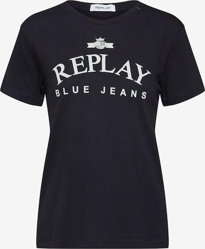 REPLAY Shirt in schwarz, Produktansicht