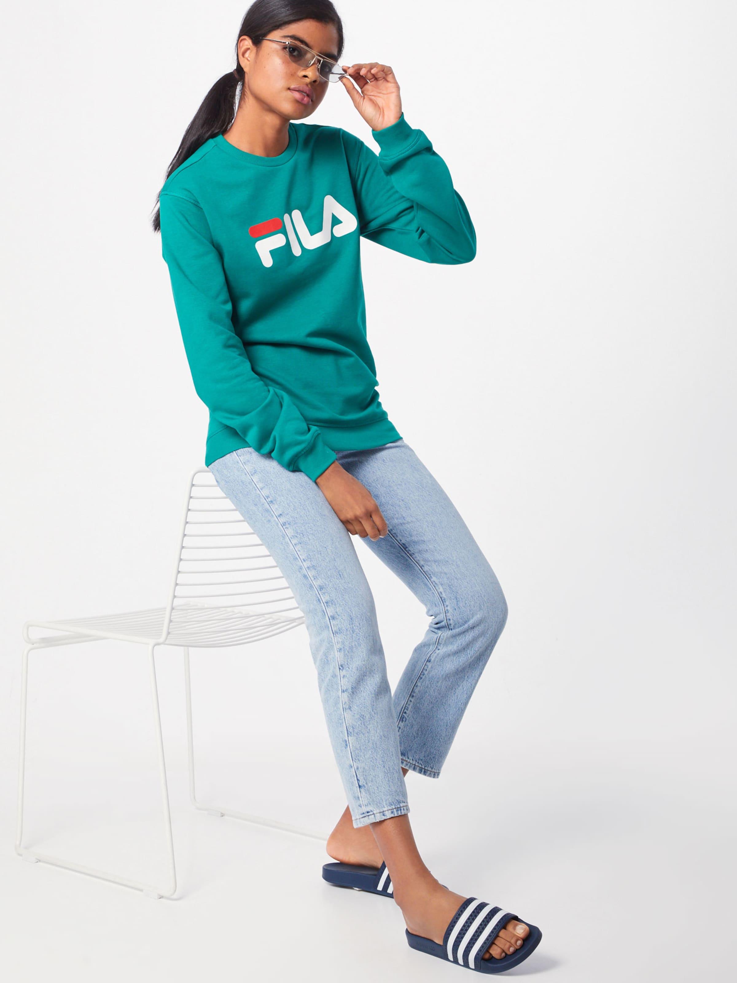 'pure Sweat VertRouge shirt Fila Crew En Sweat' Blanc FK1lcTJ3