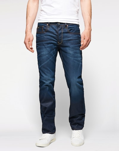 G-Star RAW Jeans '3301 Straight' in dunkelblau, Modelansicht