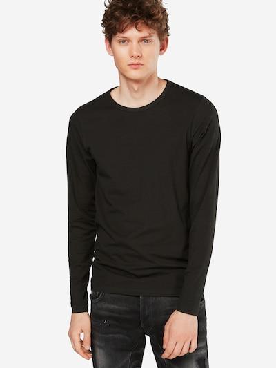 JACK & JONES Langarmshirt in schwarz: Frontalansicht
