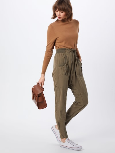 Cream Harem trousers 'Nanna' in khaki, View model