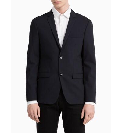 Calvin Klein Slim Wool Stretch Blazer in nachtblau, Produktansicht