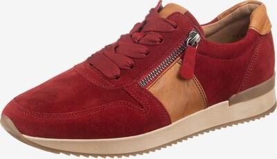 GABOR Sneaker in hellbraun / rot, Produktansicht