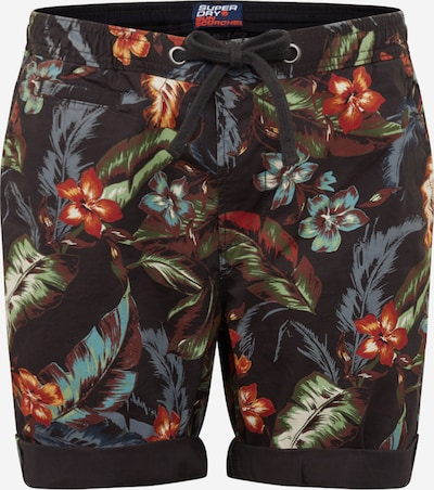 Superdry Shorts  'SUNSCORCHED' in goldgelb / dunkelgrau / grün, Produktansicht