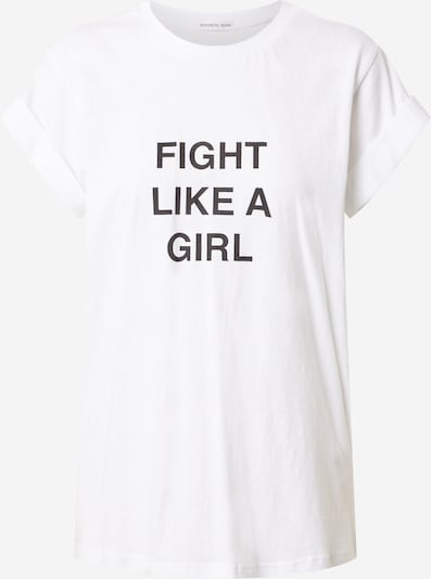 Designers Remix Shirt 'Stanley Fight' in de kleur Zwart / Wit, Productweergave