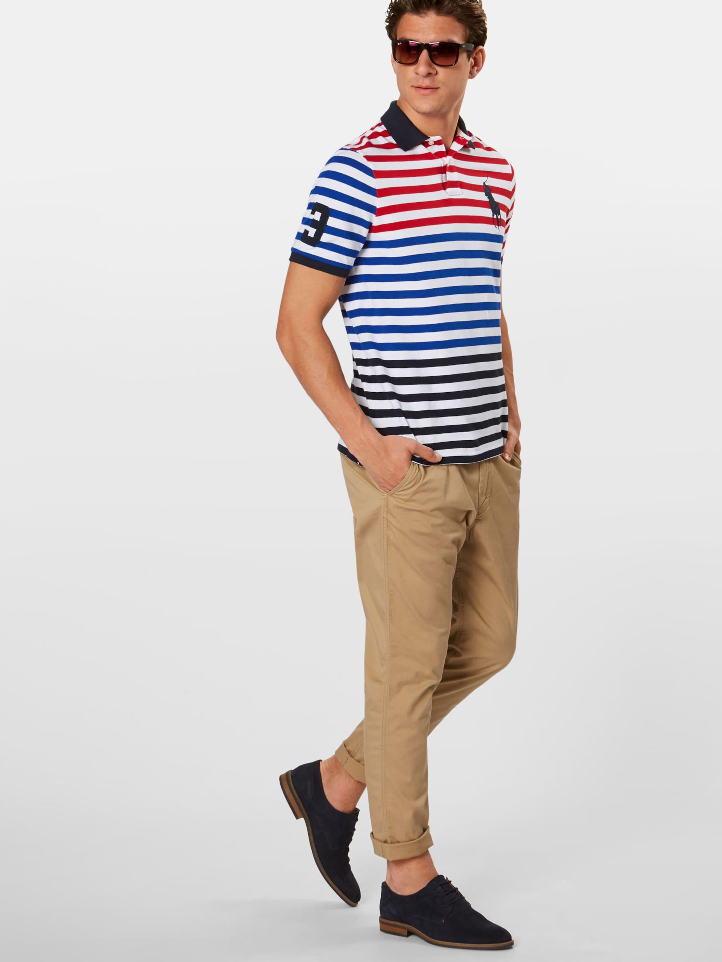 MarineMélange Polo T shirt De Bleu Couleurs Lauren Ralph En 0Xk8wnPO