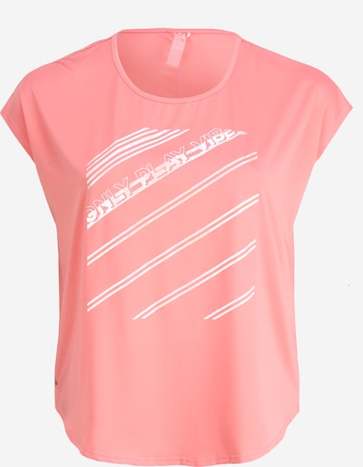 Only Play Curvy Shirt 'ONPMANON CURVED SS TRAINING TEE' in pink, Produktansicht