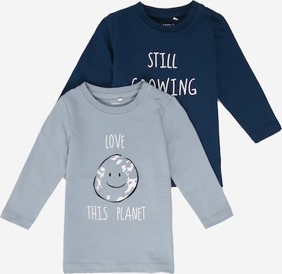 NAME IT Shirt 'LEONARDO' in opal / dunkelblau / weiß, Produktansicht