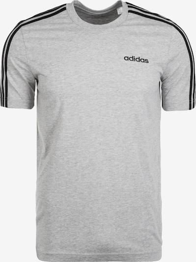 ADIDAS PERFORMANCE T-Shirt fonctionnel 'Essentials 3 Stripes' en gris chiné / noir, Vue avec produit