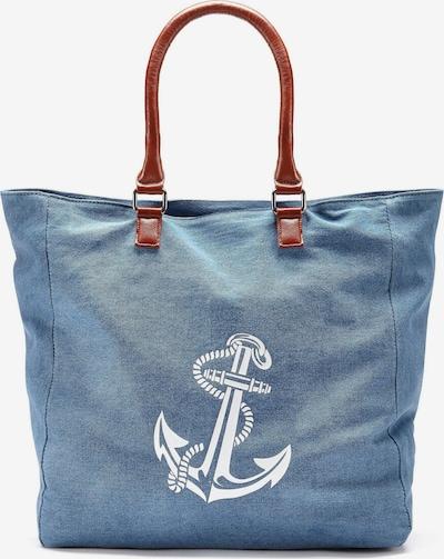 LASCANA Strandtasche in blau / weiß, Produktansicht