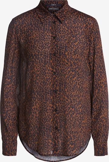 SET Bluse in blau / braun / schwarz: Frontalansicht