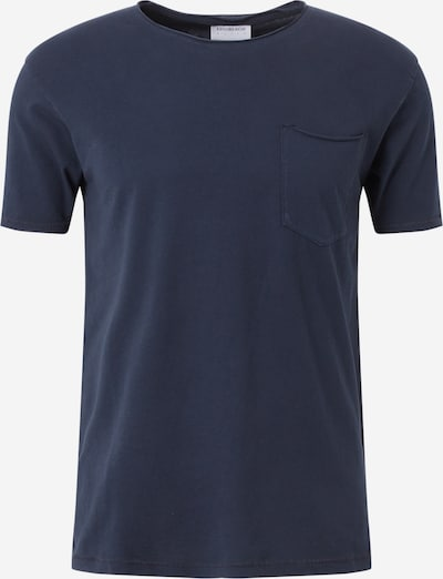 Lindbergh Herren - Shirts & Polos 'Washed tee w/ pocket S/S' in dunkelblau: Frontalansicht