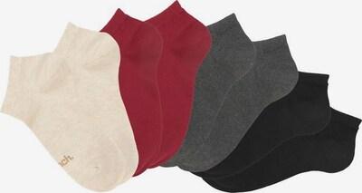 BENCH Socken in dunkelgrau / rosa / rot / schwarz, Produktansicht