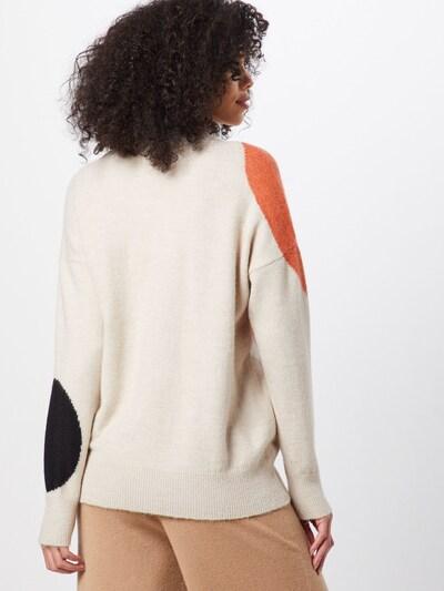 Megztinis iš TOM TAILOR , spalva - smėlio / oranžinė / juoda / balta: Vaizdas iš galinės pusės