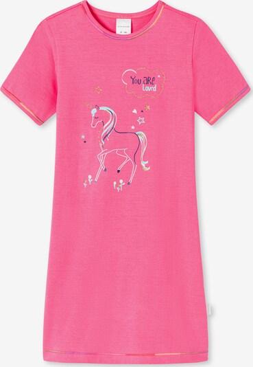SCHIESSER Nachthemd 'Girls World' in blau / hellblau / gold / pink, Produktansicht