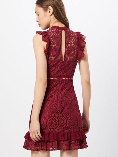 Love Triangle Avondjurk 'Royal Gala Dress' in de kleur Bordeaux: Achteraanzicht