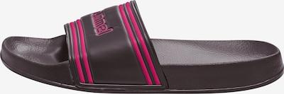 Hummel Badelatschen 'Pool Slide' in dunkelgrau / pink, Produktansicht