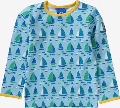 FINKID Shirt 'Taamo' in blau / hellblau / gelb / grün / petrol: Frontalansicht