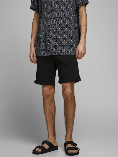 JACK & JONES Chinoshorts in schwarz, Modelansicht