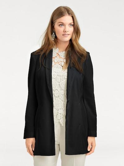 Švarkas iš heine , spalva - juoda, Modelio vaizdas
