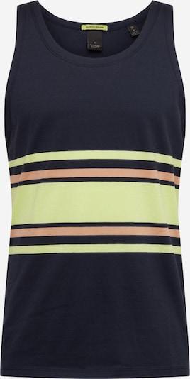Marškinėliai iš SCOTCH & SODA , spalva - tamsiai mėlyna / žaliosios citrinos spalva / šviesiai oranžinė, Prekių apžvalga
