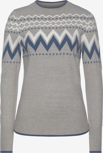 Tom Tailor Polo Team Pullover in blau / graumeliert / weiß, Produktansicht