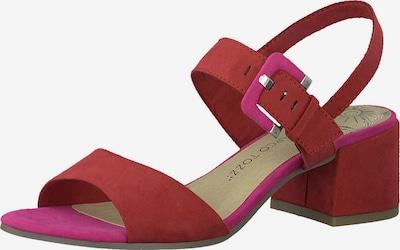 MARCO TOZZI Sandalette in pitaya / rot, Produktansicht