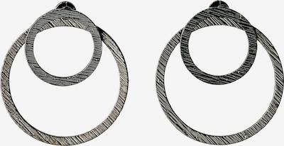 Pilgrim Pendientes 'Zooey' en gris plateado / negro, Vista del producto
