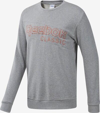 Reebok Classic Sweatshirt in grau / orange, Produktansicht