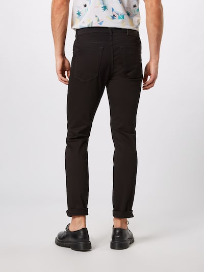 BRAX Jeans 'Chuck' in black denim: Rückansicht