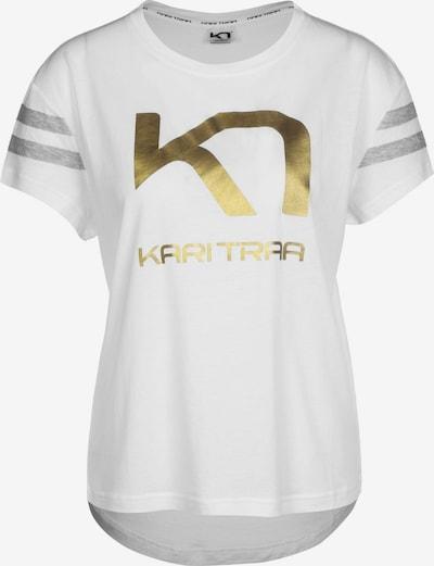 Kari Traa T-Shirt 'Vilde W' in gold / weiß, Produktansicht