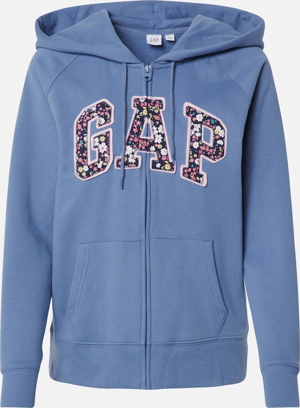 GAP Sweatjacke in blau, Produktansicht