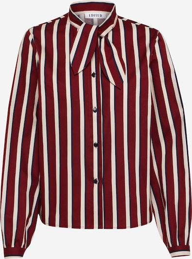 EDITED Bluzka 'Natalia' w kolorze kremowy / granatowy / czerwone winom, Podgląd produktu