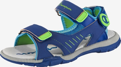 Champion Authentic Athletic Apparel Sandalen 'Delray' in blau / hellblau / kiwi, Produktansicht