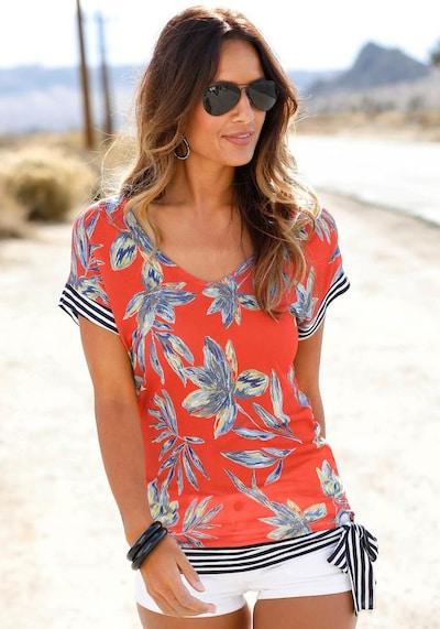 LASCANA Blusenshirt in mischfarben / rot, Modelansicht