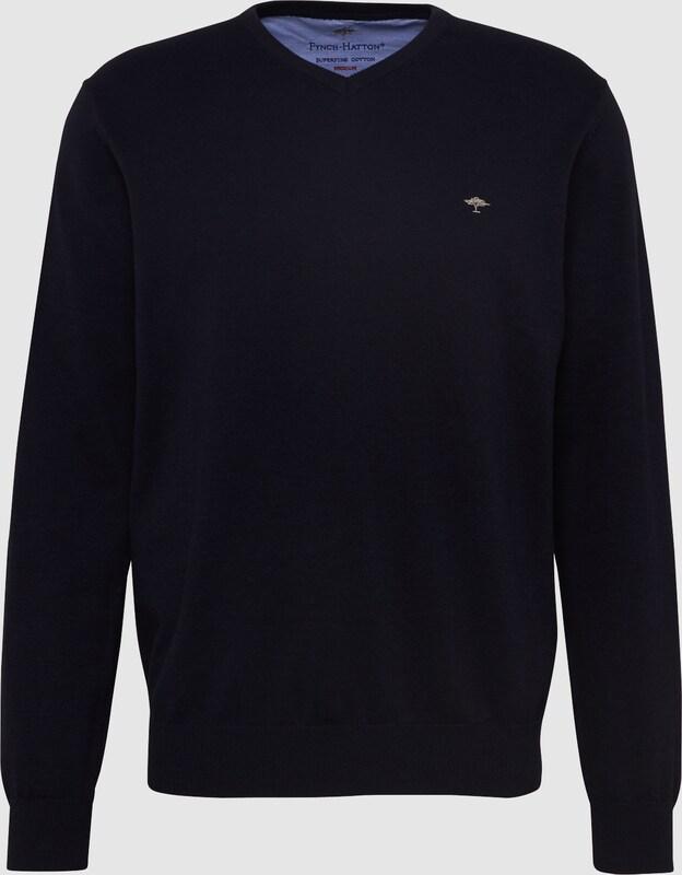 FYNCH-HATTON Pullover 'V-Neck NOS' in kobaltblau  Große Preissenkung