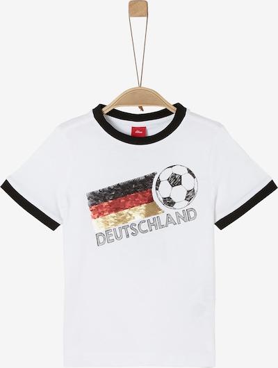 s.Oliver T-Shirt in gold / rot / schwarz / weiß: Frontalansicht