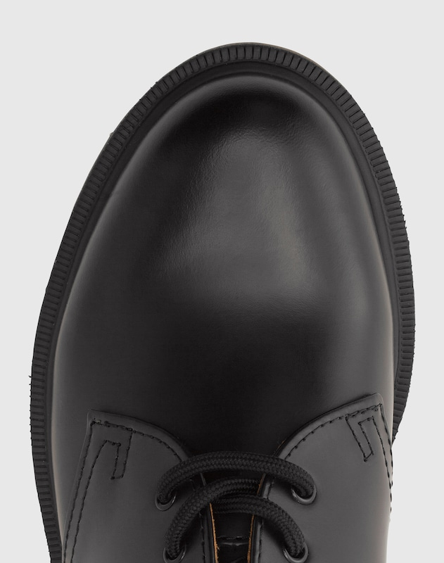 Dr. Martens Leder-Halbschuhe '3 Eye Shoe Smooth' im Unisex-Look