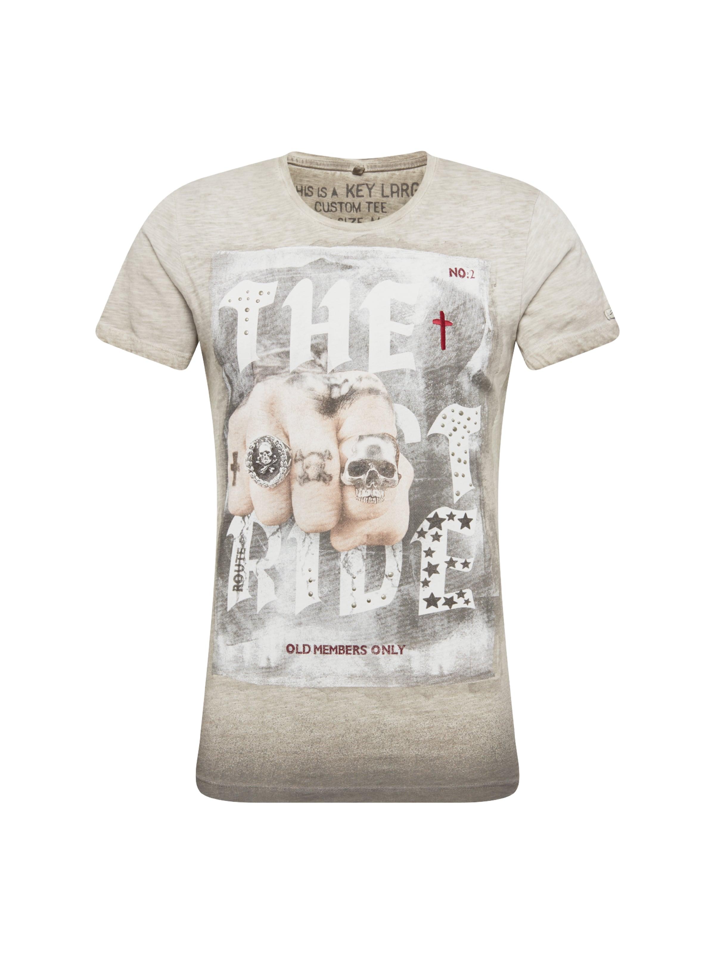 shirt 'last Gris Couleurs De Largo T ArgentéMélange Key Ride' En Yb6gyf7