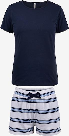 DESIRES Schlafanzug 'Penelope' in blau / navy / weiß, Produktansicht