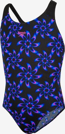 SPEEDO Badeanzug in blau / himmelblau / pink / schwarz, Produktansicht