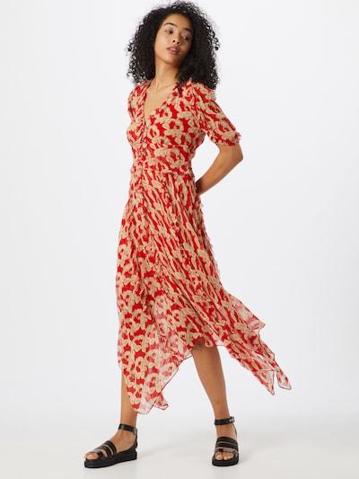 The Kooples Kleid 'ROBE' in nude / rot, Modelansicht