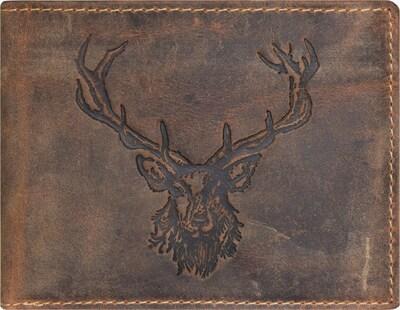 GREENBURRY Portemonnee 'Vintage Hirsch' in de kleur Bruin, Productweergave