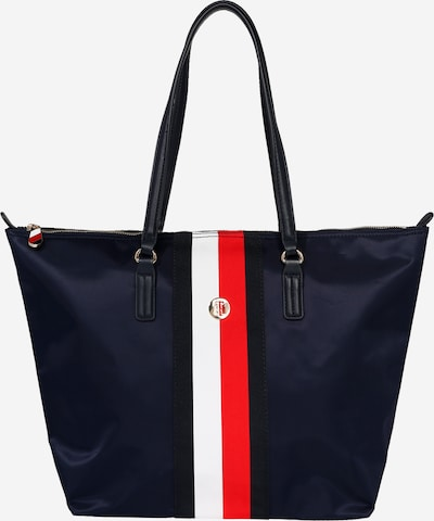 TOMMY HILFIGER Shopper in dunkelblau / rot / weiß, Produktansicht