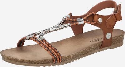 Sandale cu baretă MUSTANG pe maro castaniu, Vizualizare produs